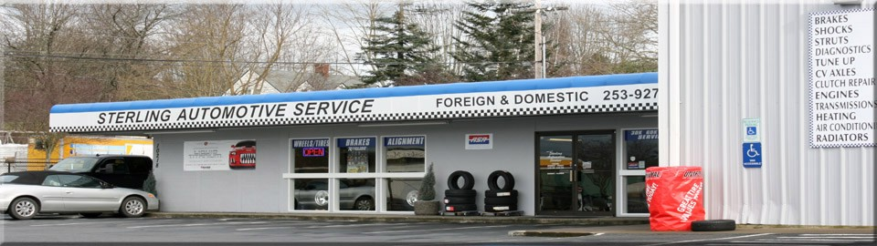 Sterling Automotive Service front parking